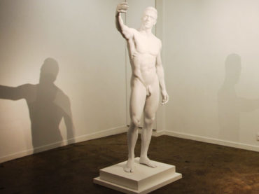 Initial exhibits its 3D printed statue during the Révélations show