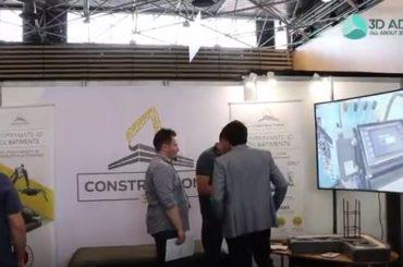 L'imprimante 3D de bâtiments de Constructions 3D