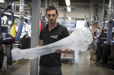 La reconstruction imprimée 3D d'un squelette de mammouth