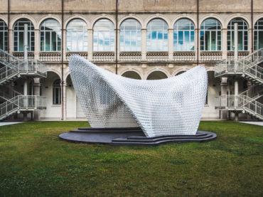 Cinq imprimantes 3D WASP réalisent le pavillon Trabeculae