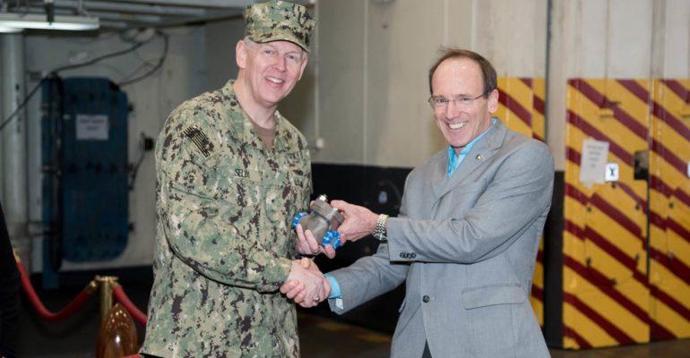 La marine américaine reçoit la première pièce métallique imprimée en 3D de la NNS