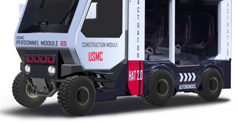 FATHOM & U.S Marines use additive manufacturing to produce a modular logistics vehicle