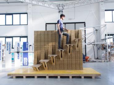 WASP et IAAC dévoilent le prototype d'un mur imprimé en 3D avec escalier encastré