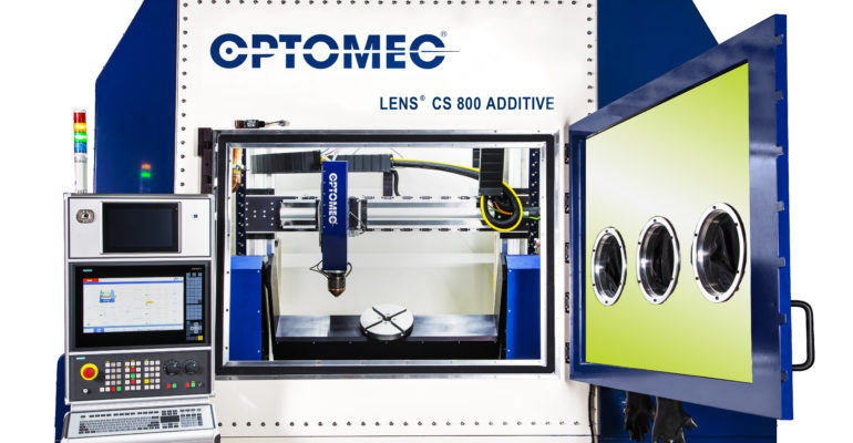 Optomec releases the new lens CS 600 and CS 800 Controlled Atmosphere for its metal AM