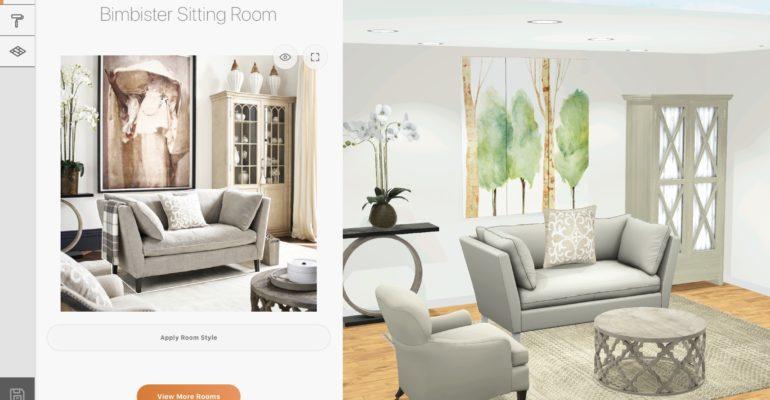 Les millénaires veulent concevoir directement à partir des photos, d'où le 3D Room designer