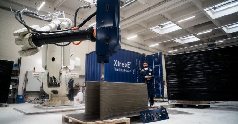 XtreeE prépare un réseau d'imprimantes 3D connectées pour la construction